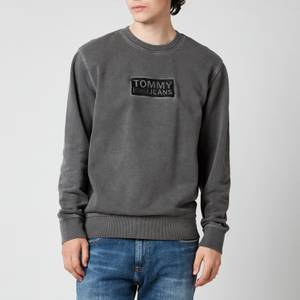 Tommy Jeans Men's Tonal Corporation Logo Crewneck Sweatshirt - Black