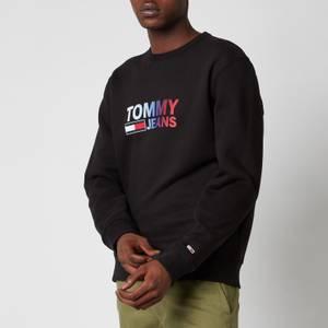 Tommy Jeans Men's Ombre Corporation Logo Crewneck Sweatshirt - Black