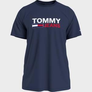 Tommy Jeans Men's Corporation Logo T-Shirt - Twilight Navy