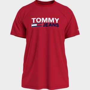 Tommy Jeans Men's Corporation Logo T-Shirt - Deep Crimson
