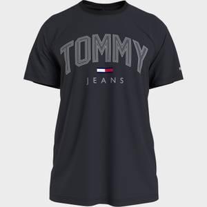 Tommy Jeans Men's Shadow Print Logo T-Shirt - Black