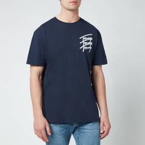 Tommy Jeans Men's Repeat Script Logo T-Shirt - Twilight Navy