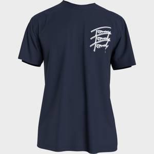 Tommy Jeans Men's Repeat Script Logo T-Shirt - Twilight Navy
