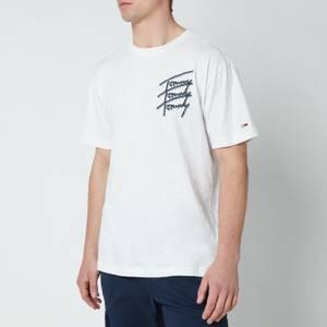 Tommy Jeans Men's Repeat Script Logo T-Shirt - White