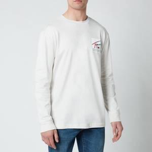 Tommy Jeans Men's Basketball Longsleeve T-Shirt - White