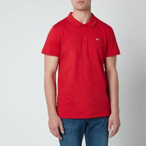 Tommy Jeans Men's Essential Jersey Polo Shirt - Deep Crimson