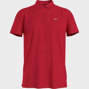 Tommy Jeans Men's Essential Jersey Polo Shirt - Deep Crimson
