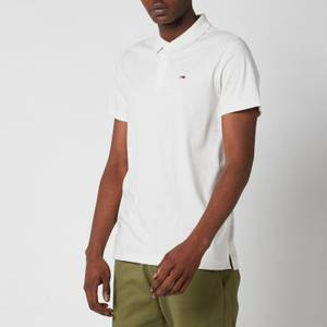 Tommy Jeans Men's Essential Jersey Polo Shirt - White