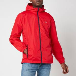 Tommy Jeans Men's Packable Windbreaker Jacket - Deep Crimson