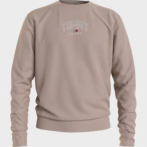 Tommy Jeans Men's Lightweight Logo Crewneck Sweatshirt - Soft Beige
