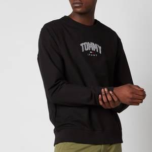 Tommy Jeans Men's Lightweight Logo Crewneck Sweatshirt - Black