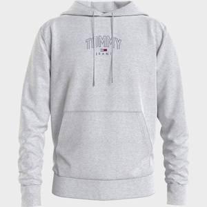 Tommy Jeans Men's Lightweight Logo Crewneck Hoodie - Silver Grey HTR