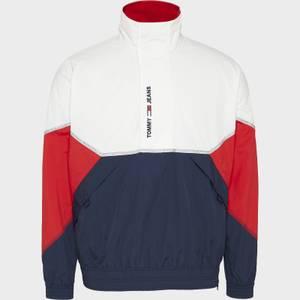 Tommy Jeans Men's Lightweight Popover Jacket - White Multi