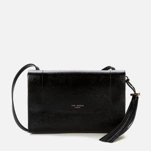 Ted Baker Women's Lailai Tassel Patent Cross Body Bag - Black
