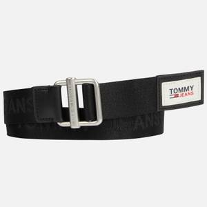Tommy Jeans Men's Essential Webbing 3.5 Belt - Black