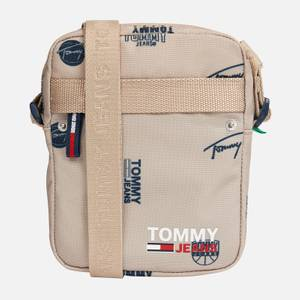 Tommy Jeans Men's Campus Print Reporter Bag - Beige AOP