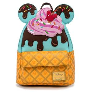Loungefly Disney Mickey And Minnie Sweets Ice Cream Mini Backpack