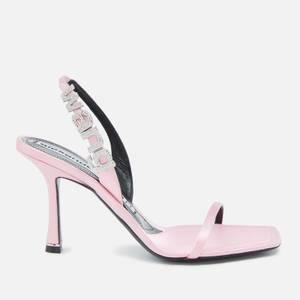 Alexander Wang Women's Ivy 85 Satin Heeled Sandals - Prism Pink