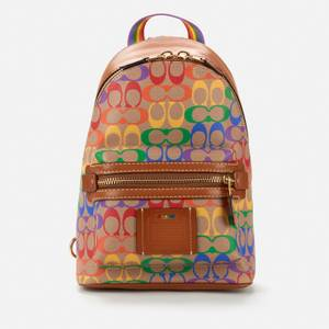 Coach Men's Academy Backpack - Rainbow Signature Canvas