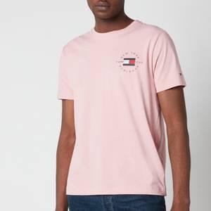 Tommy Hilfiger Men's Chest Circle Corporation T-Shirt - Glacier Pink