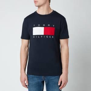 Tommy Hilfiger Men's Corporation Texture Insert T-Shirt - Desert Sky