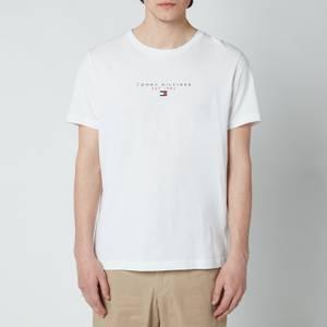 Tommy Hilfiger Men's Essential Chest Logo T-Shirt - White