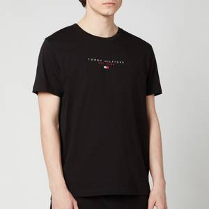 Tommy Hilfiger Men's Essential Chest Logo T-Shirt - Black