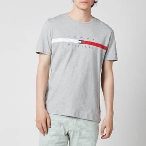 Tommy Hilfiger Men's Global Chest Stripe T-Shirt - Medium Grey Heather
