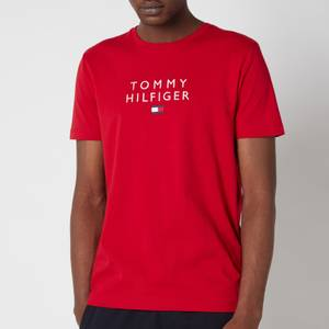 Tommy Hilfiger Men's Stacked Flag T-Shirt - Primary Red