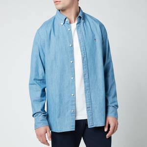 Tommy Hilfiger Men's Light Denim Shirt - Light Indigo