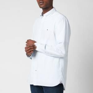 Tommy Hilfiger Men's Oxford Stripe Shirt - Calm Blue