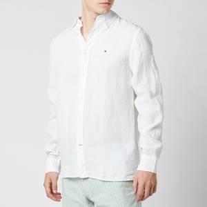 Tommy Hilfiger Men's Pigment Dyed Linen Shirt - White