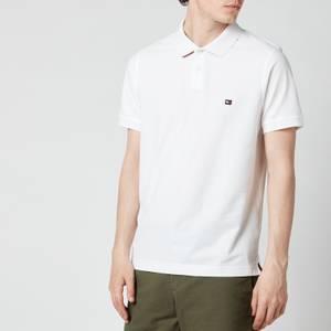 Tommy Hilfiger Men's 1985 Contrast Placket Slim Fit Polo Shirt - White