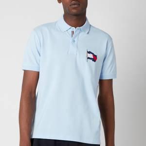 Tommy Hilfiger Men's 1985 Wavy Flag Regular Fit Polo Shirt - Sweet Blue