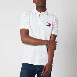 Tommy Hilfiger Men's 1985 Wavy Flag Regular Fit Polo Shirt - White