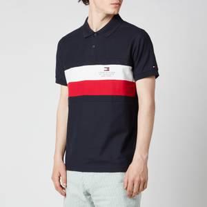 Tommy Hilfiger Men's Chest Stripe Slim Fit Polo Shirt - Desert Sky