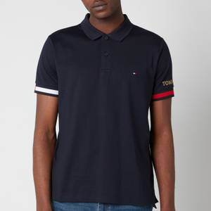 Tommy Hilfiger Men's Flag Cuff Slim Fit Polo Shirt - Desert Sky
