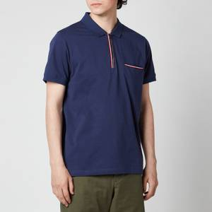 Tommy Hilfiger Men's Tipped Zip Slim Fit Polo Shirt - Yale Navy