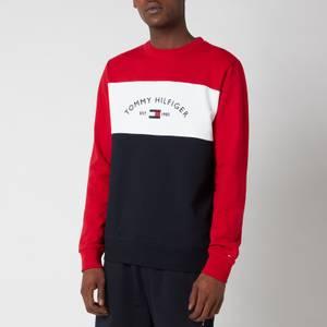 Tommy Hilfiger Men's Embroidered Signature Crewneck Sweatshirt - Red Multi