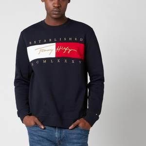 Tommy Hilfiger Men's Signature Flag Sweatshirt - Desert Sky