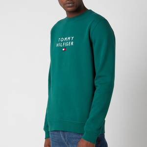 Tommy Hilfiger Men's Stacked Flag Crewneck Sweatshirt - Rural Green