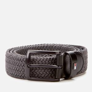 Tommy Hilfiger Men's Denton Elastic 3.5 Belt - Pewter Grey