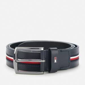 Tommy Hilfiger Men's Denton Corporation Inlay Leather 3.5 Belt - Desert Sky