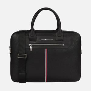 Tommy Hilfiger Men's Downtown Super Slim Laptop Bag - Black