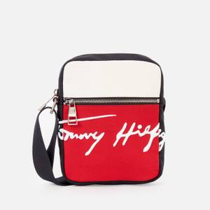 Tommy Hilfiger Men's Signature Mini Reporter Bag - Desert Sky