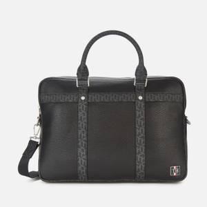Tommy Hilfiger Men's Monogram Slim Laptop Bag - Black