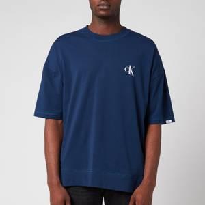 Calvin Klein Men's Crewneck T-Shirt - Lake Crest Blue