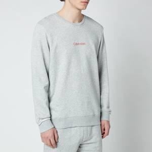 Calvin Klein Men's Chest Logo Sweatshirt - Grey Heather