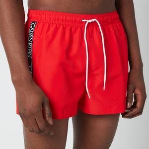 Calvin Klein Men's Drawstring Swim Shorts - Fierce Red