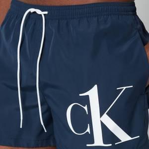 Calvin Klein Men's CK Logo Drawstring Swim Shorts - Black Iris